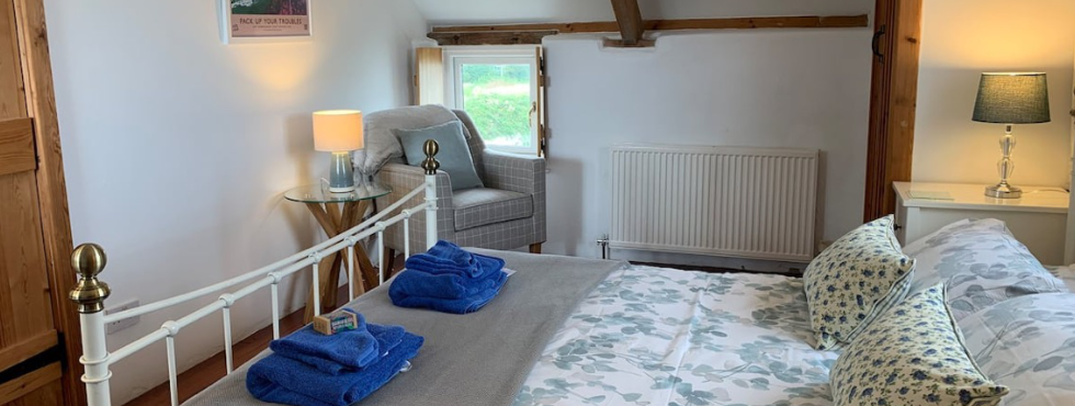 The Stunning Master Bedroom of The Byre