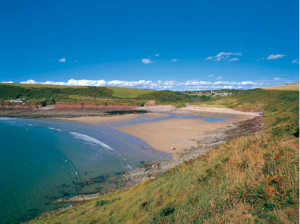 A Photograph of Manorbier Beach